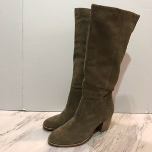 Crevo Knee High Relaxed Taupe Boot